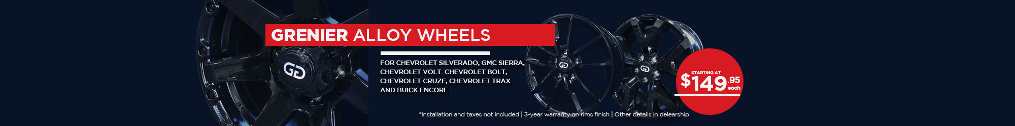 GRENIER alloy wheels - ALL (OCCASION)