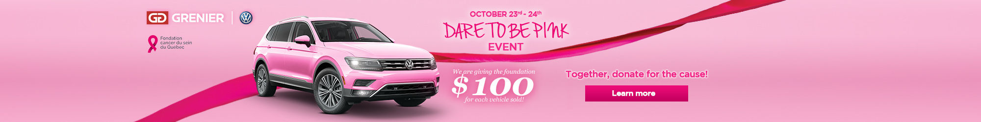 october 23-24 dare to be pink