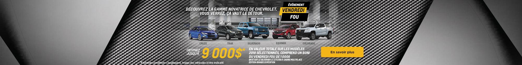 Événement Vendredi Fou Chevrolet!