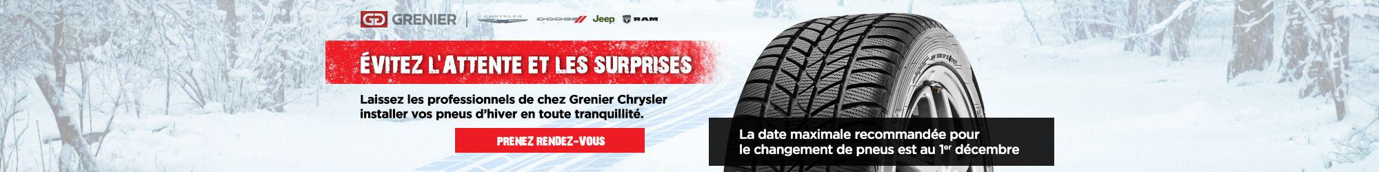 Changement de pneus avant le 1er décembre