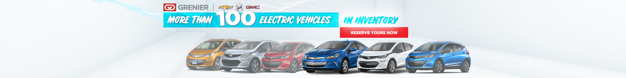 100 electric vehicles in inventory