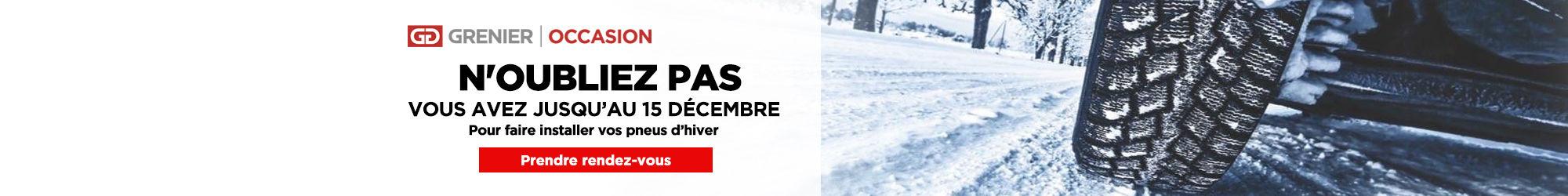 Maximum 15 décembre pneus d'hiver