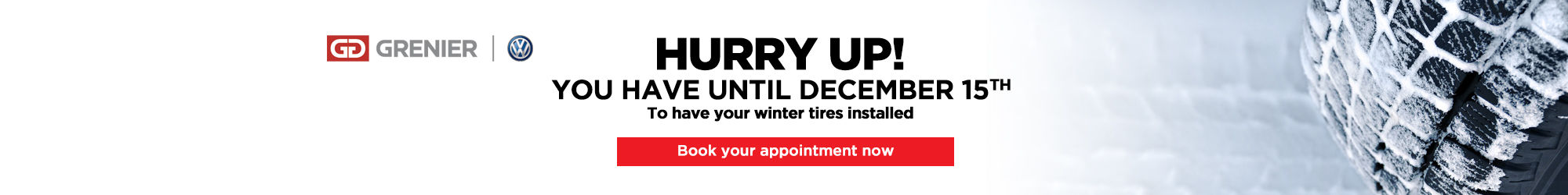 Winter tire installation december 15th