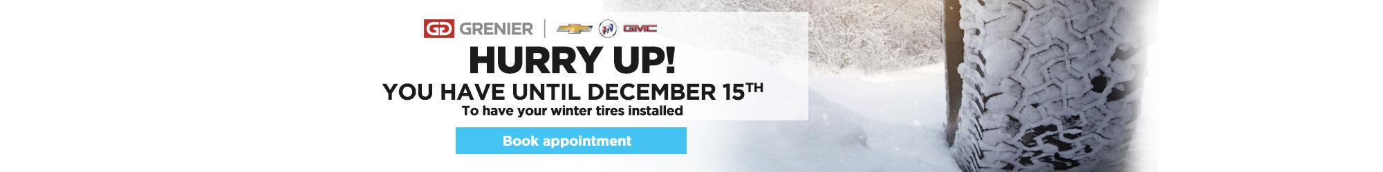service winter tires december 15th