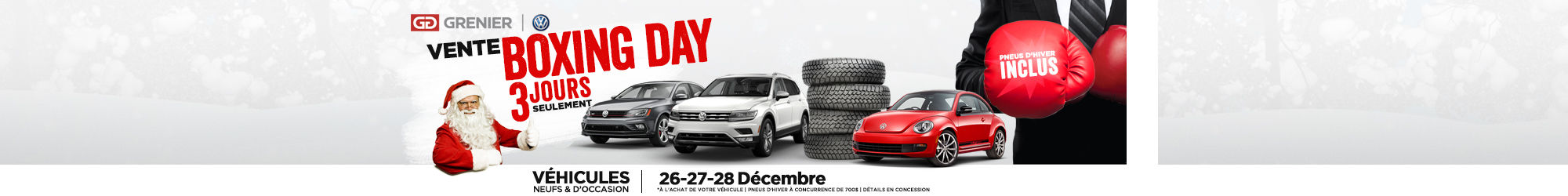 Vente boxing day 3 jours seulement
