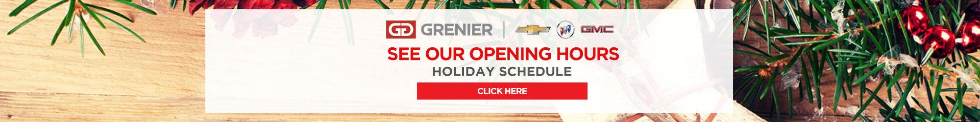 Grenier Chevrolet opening hours