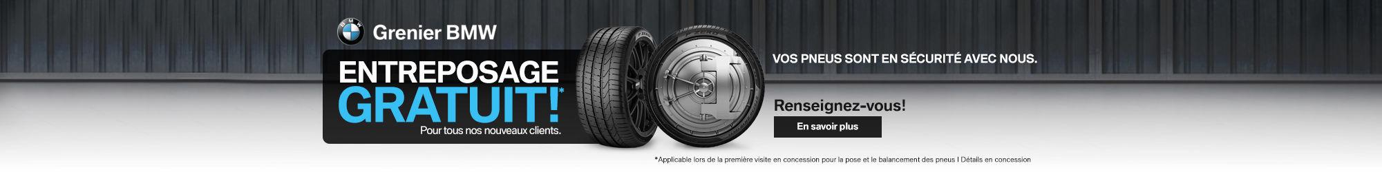 Entreposage pneus gratuit nouveaux clients