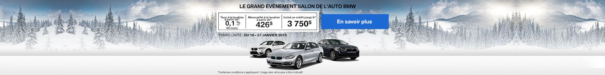 L'événement salon de l'auto BMW