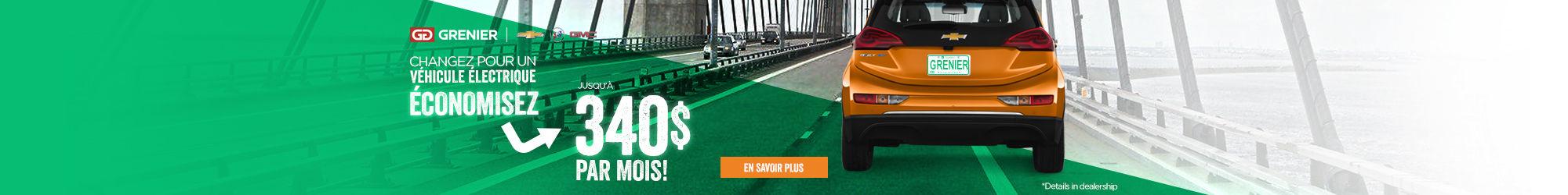 Économisez avec un véhicule électrique!
