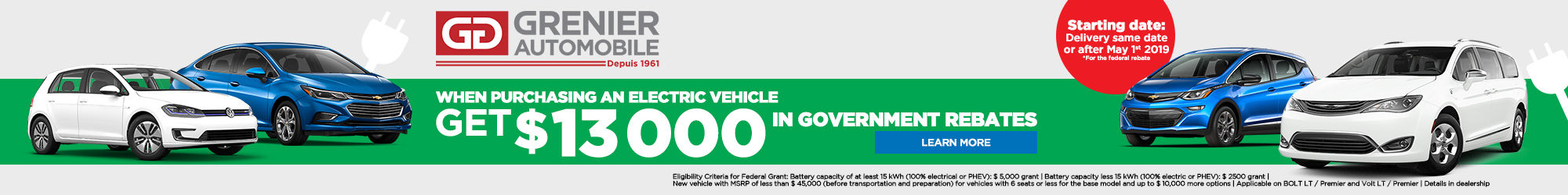 Government rebate for electric vehicles (Copy) (Copy)