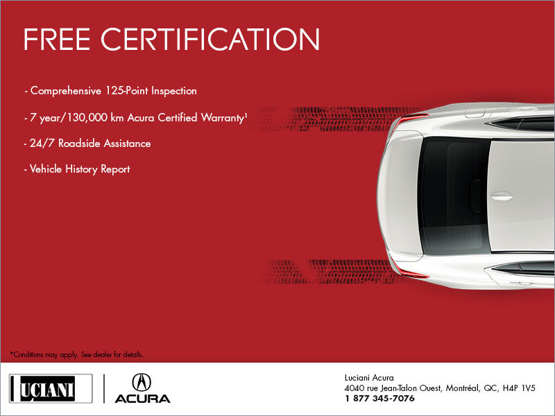 Free Acura Certification
