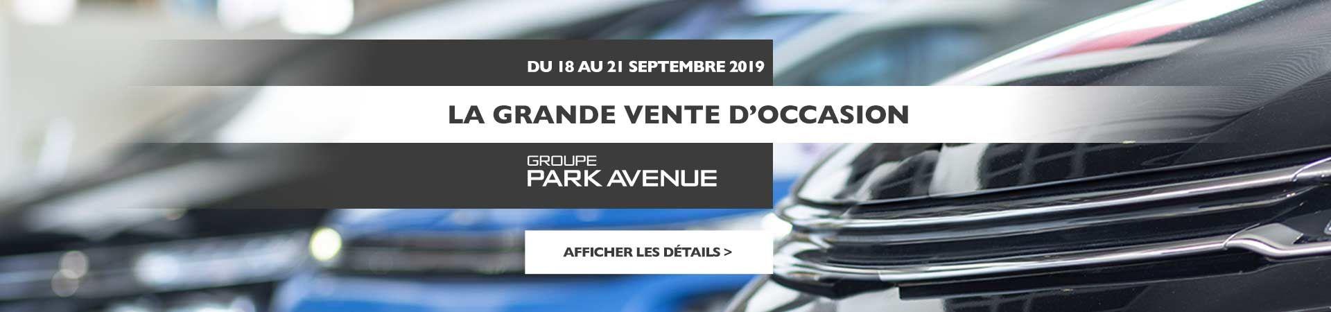 Vente Groupe Park Avenue CPO