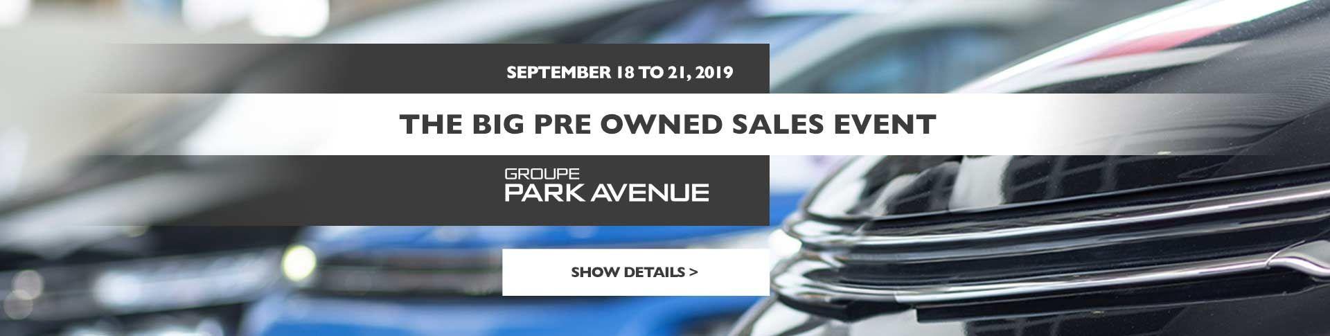 Groupe Park Avenue Sale CPO