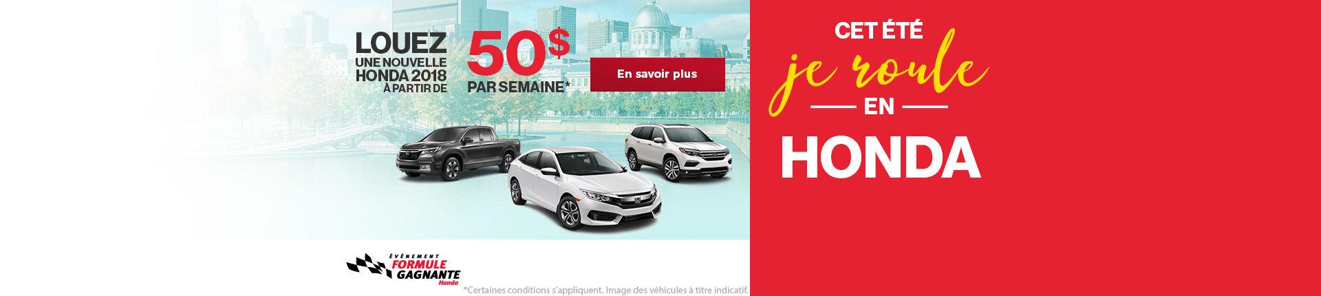 Événement formule gagnante Honda web