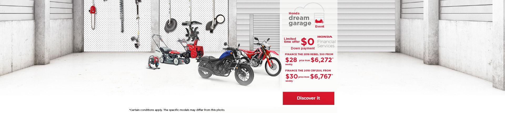 Honda Dream Garage on Motorcycles