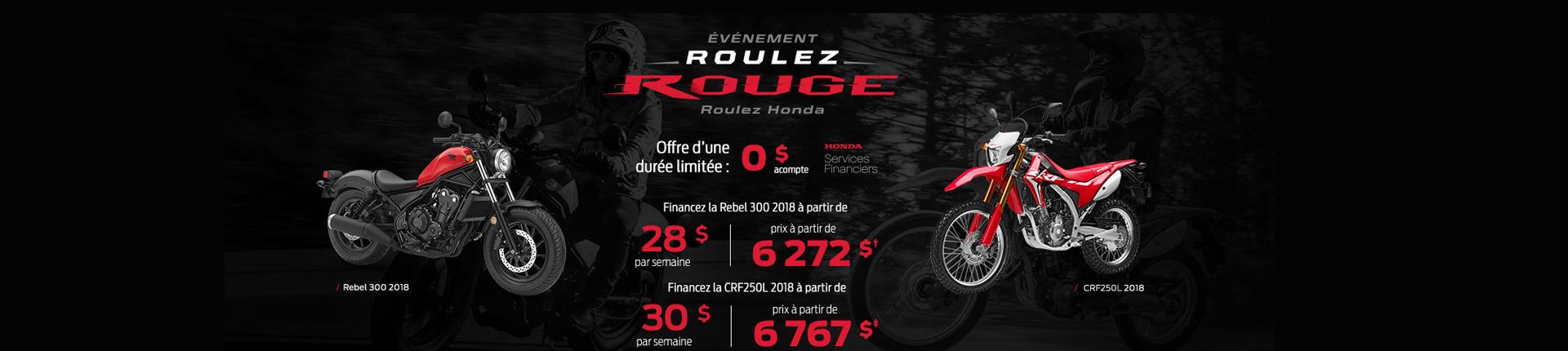 Événement Honda : Roulez rouge
