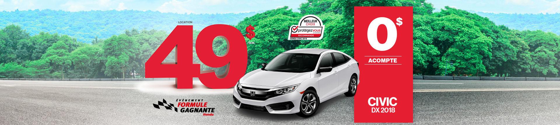 Procurez-vous la Honda Civic à Montréal