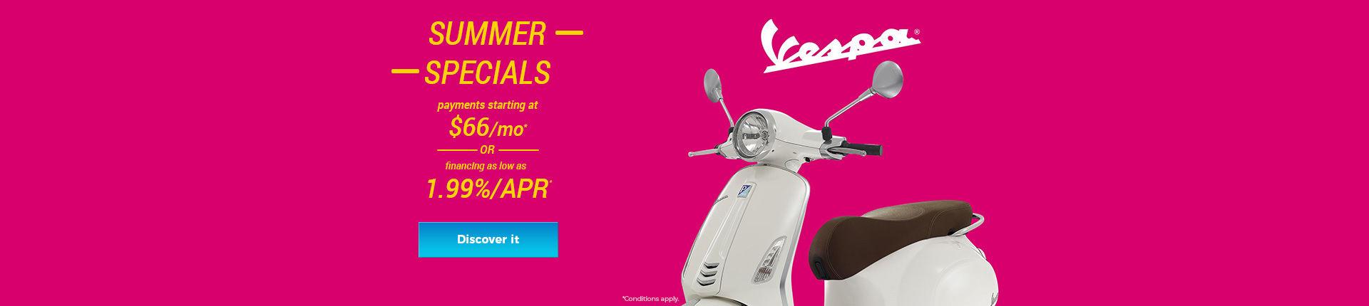 Vespa Summer Specials!