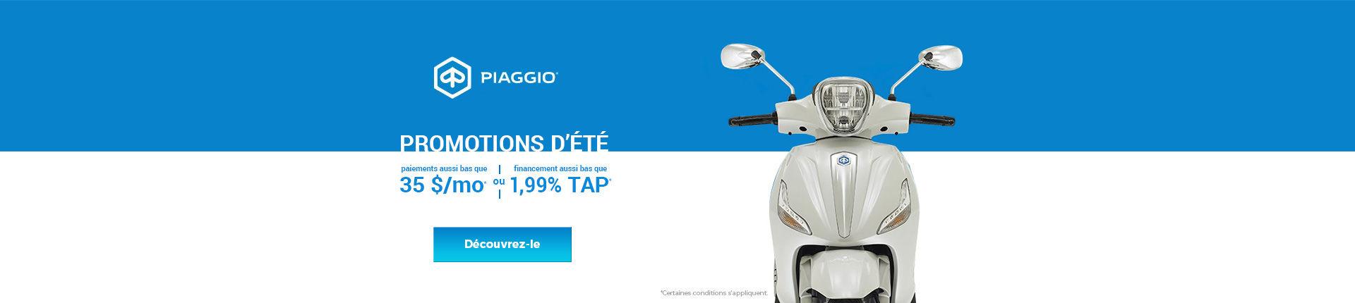 Promotions d'été Piaggio!
