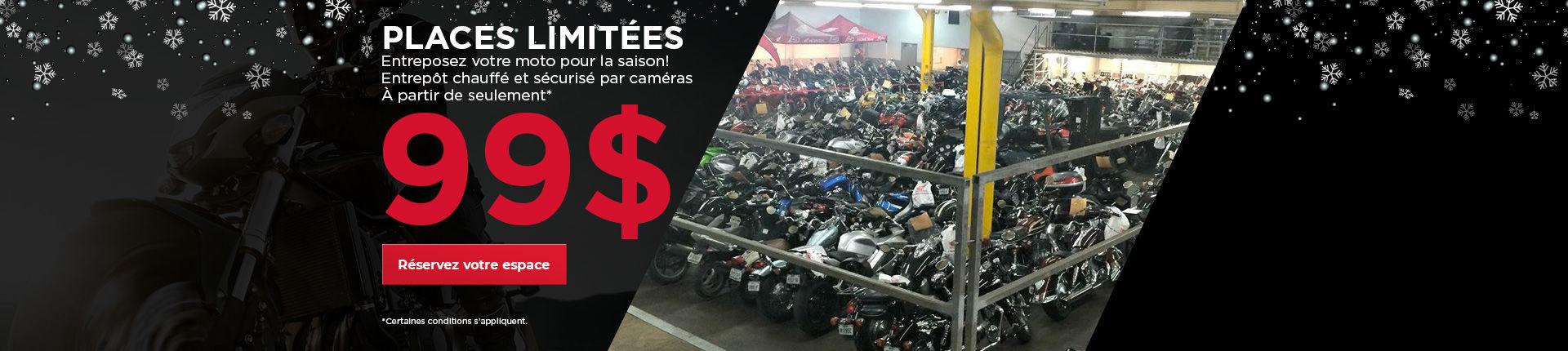 Entreposez votre moto avec nous!