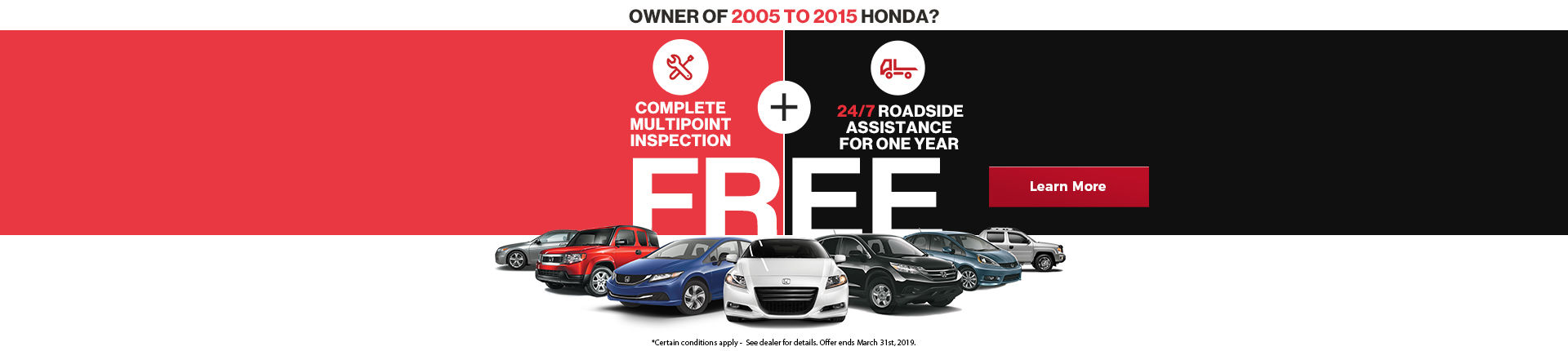 Free Multipoint Inspection and Roadside Assistance!