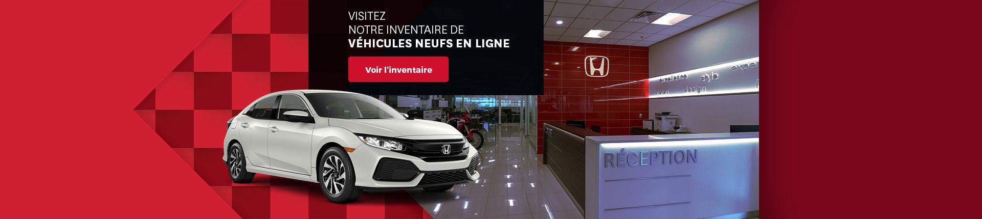 Visitez inventaire véhicules neufs en ligne