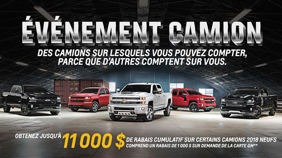 Promotion Chevrolet Mars 2018