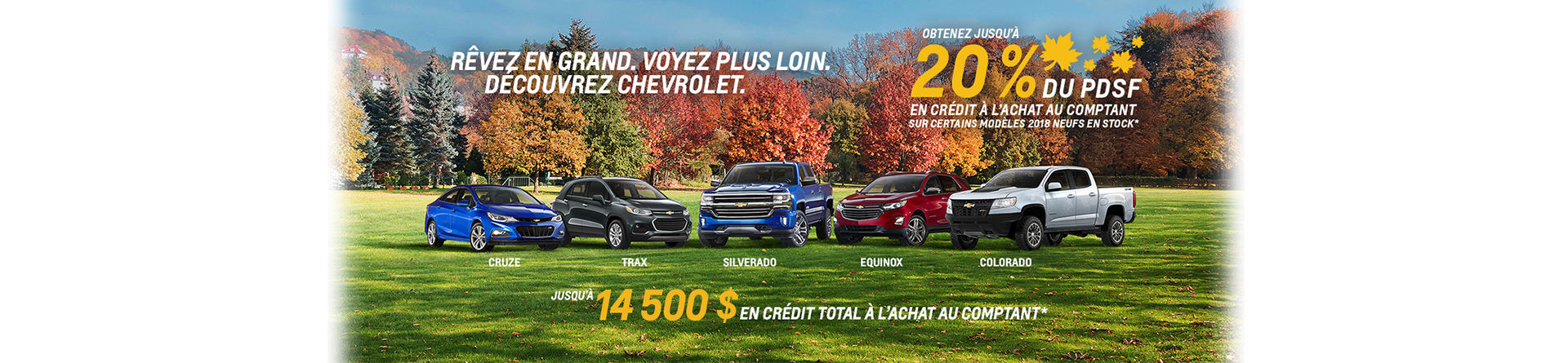 Promotion Chevrolet, repentigny