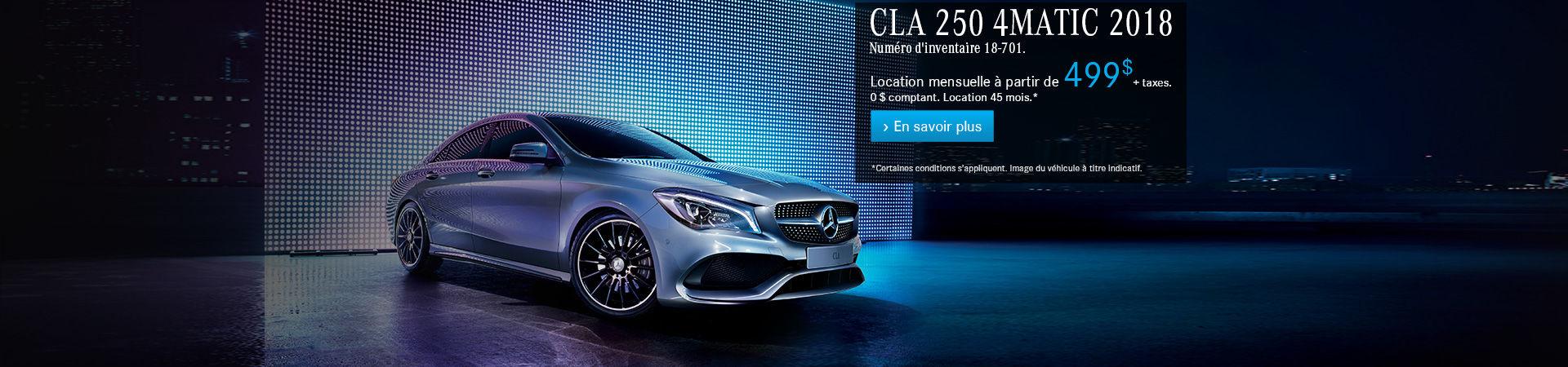 CLA 250 4MATIC 2018