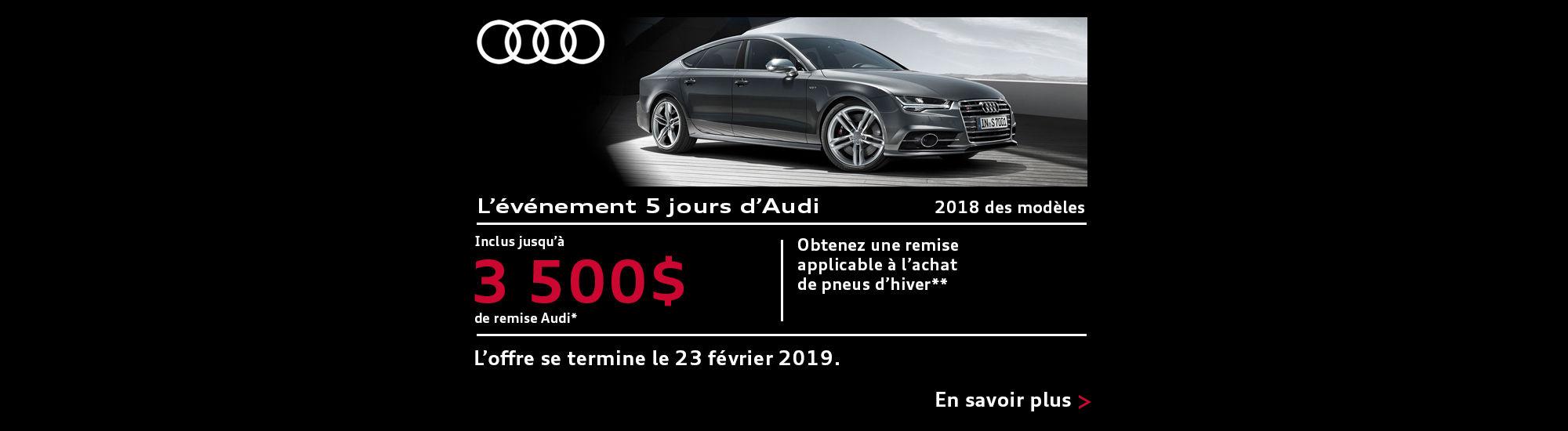 L'événement 5 jours d'Audi