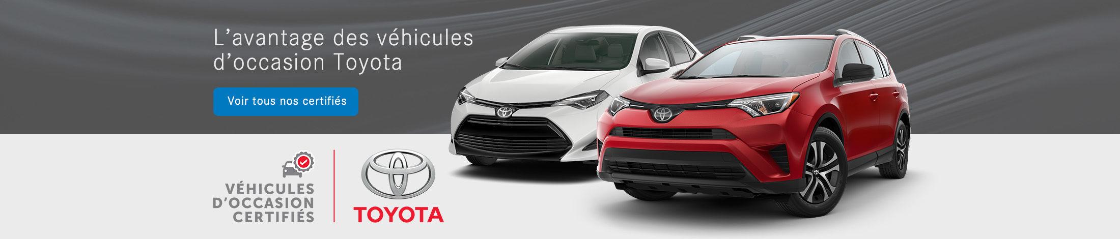 Occasion certifié Toyota