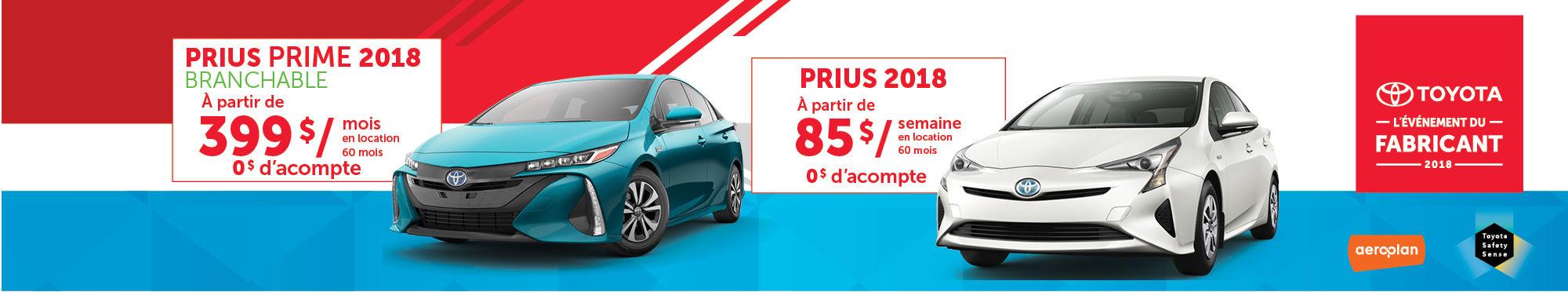 promotion prius et prime 2018