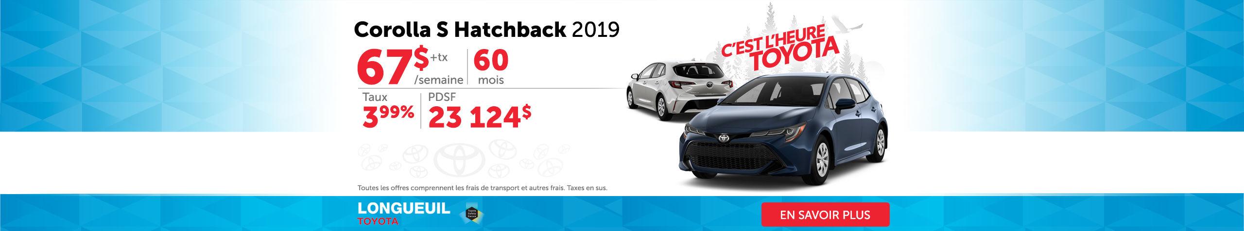 Corolla S Hatchback 2019