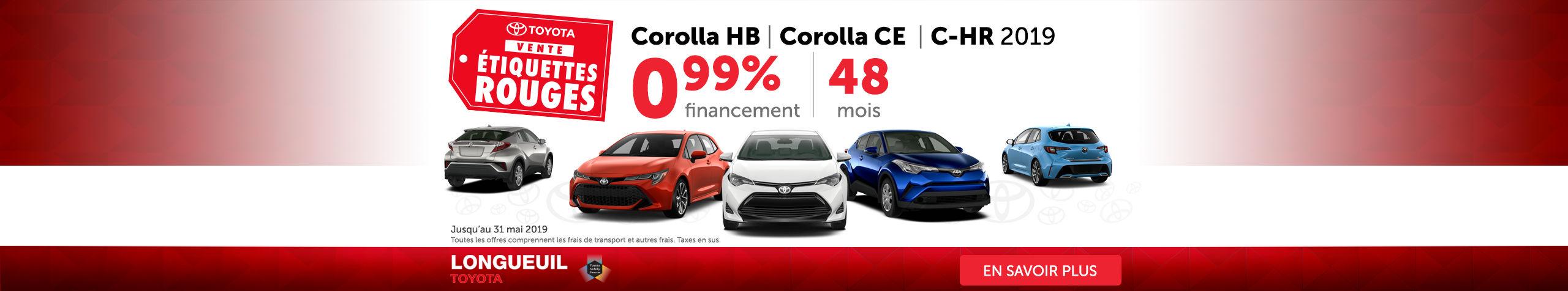 Corolla HB - Corlla CE - CH-R 2019