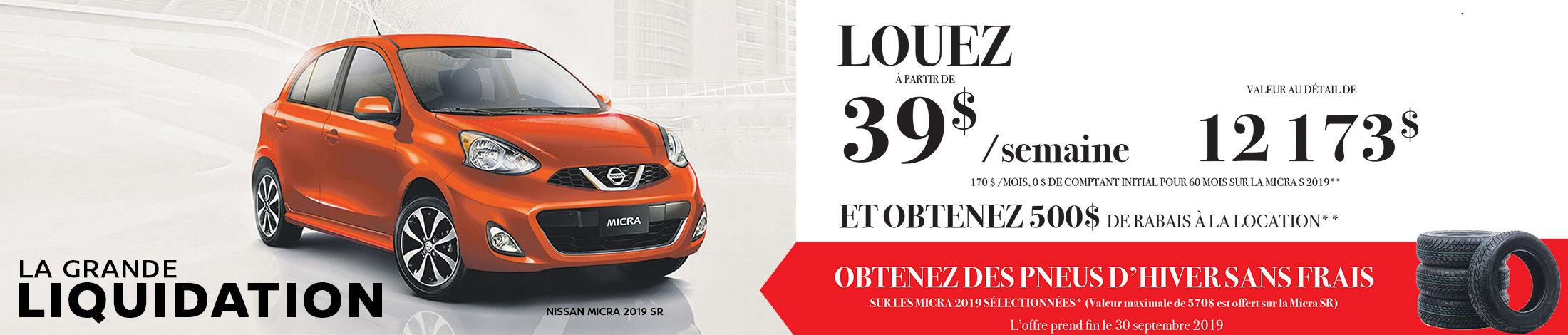 La Grande Liquidation Nissan Micra 2019