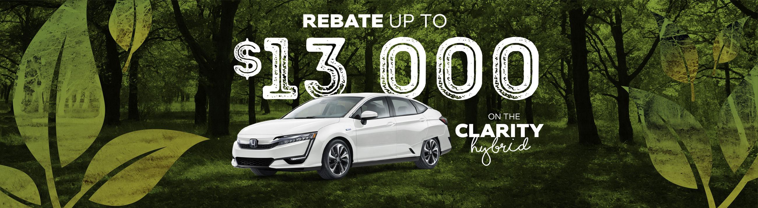Honda Clarity hybrid $8000 rebate