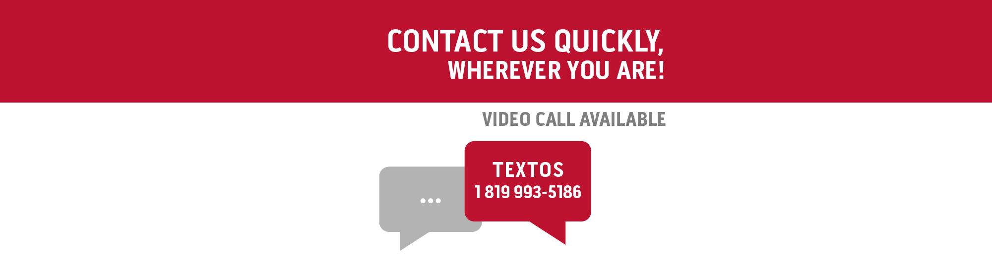 Contact us via Text message