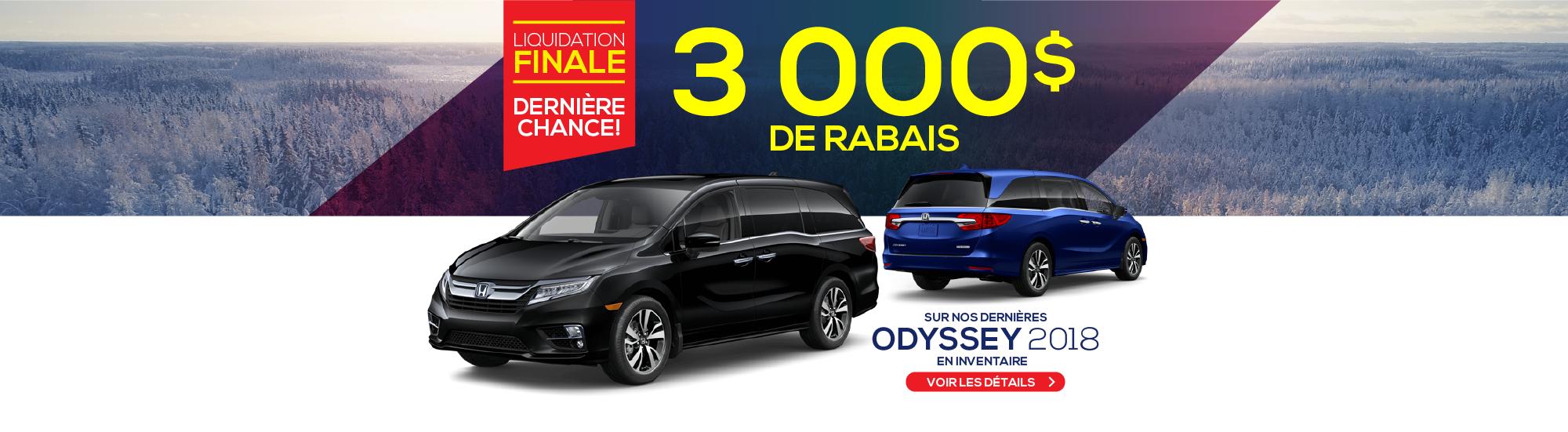 3000$ DE RABAIS - ODYSSEY 2018