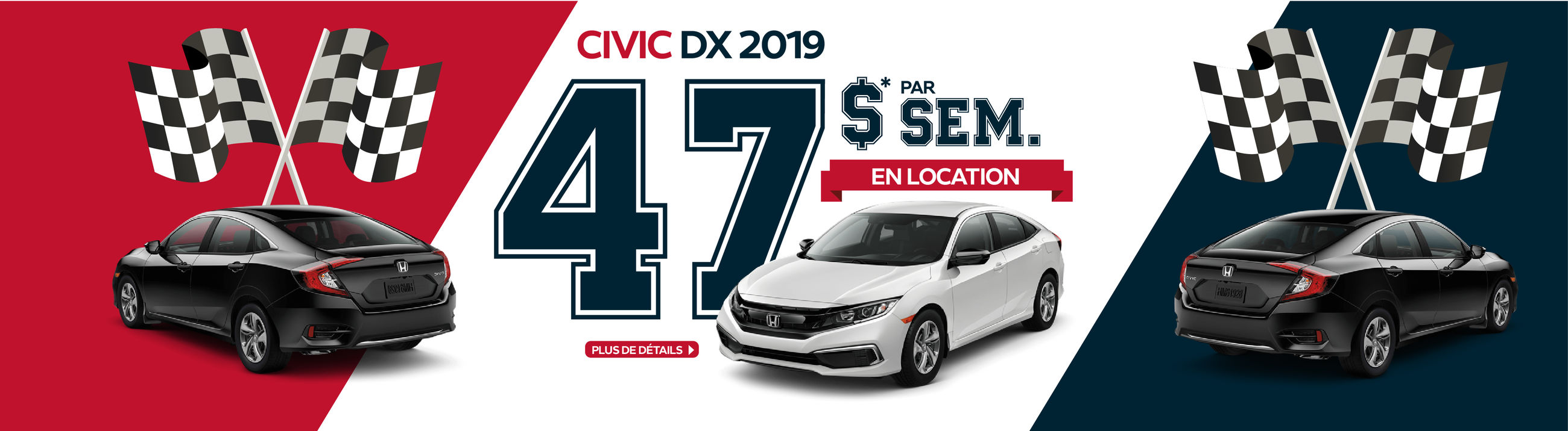 Civic DX à 47$ par semaine