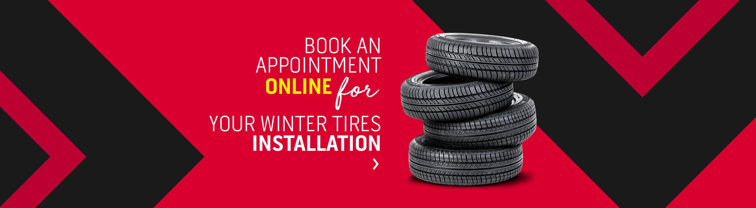 Winter tires intallation (Magog)