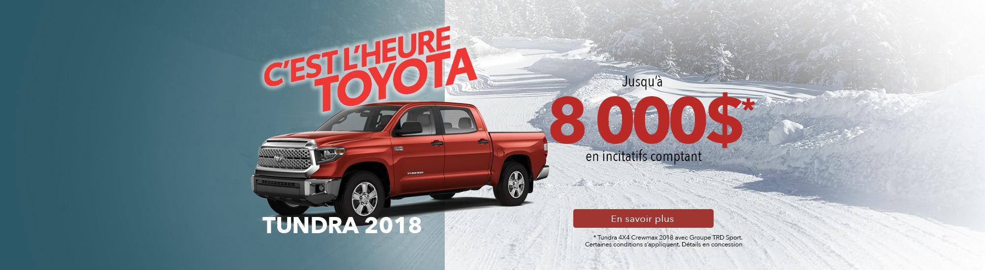 Tundra 2018 - Janvier 2019