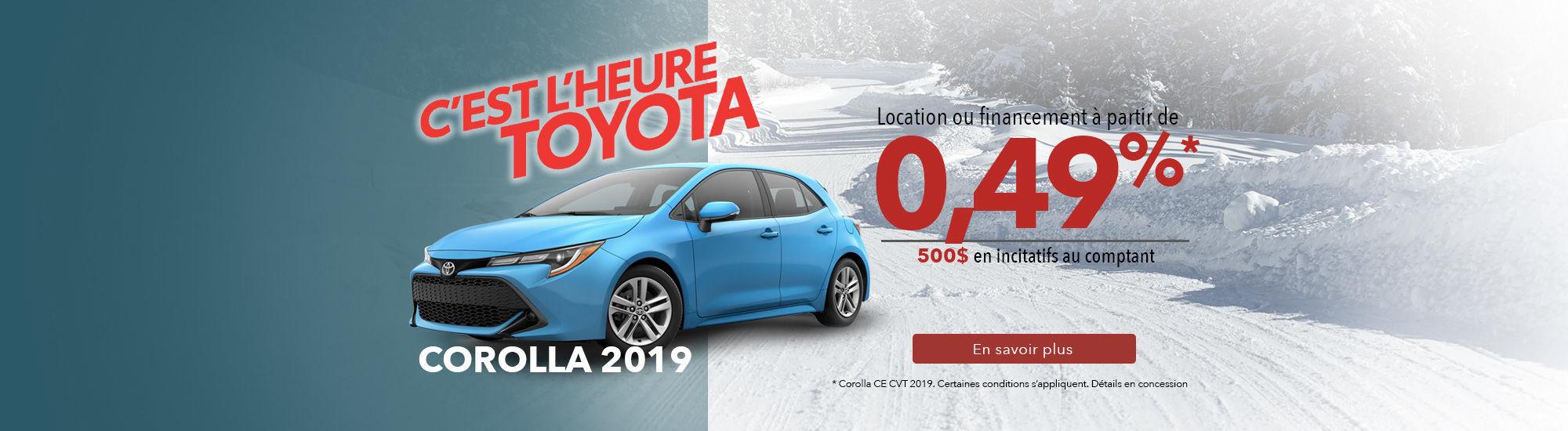 Corolla 2019 - Janvier 2019