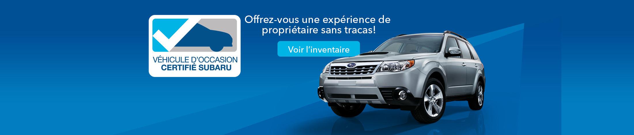 Véhicule d'occasion certifié Subaru