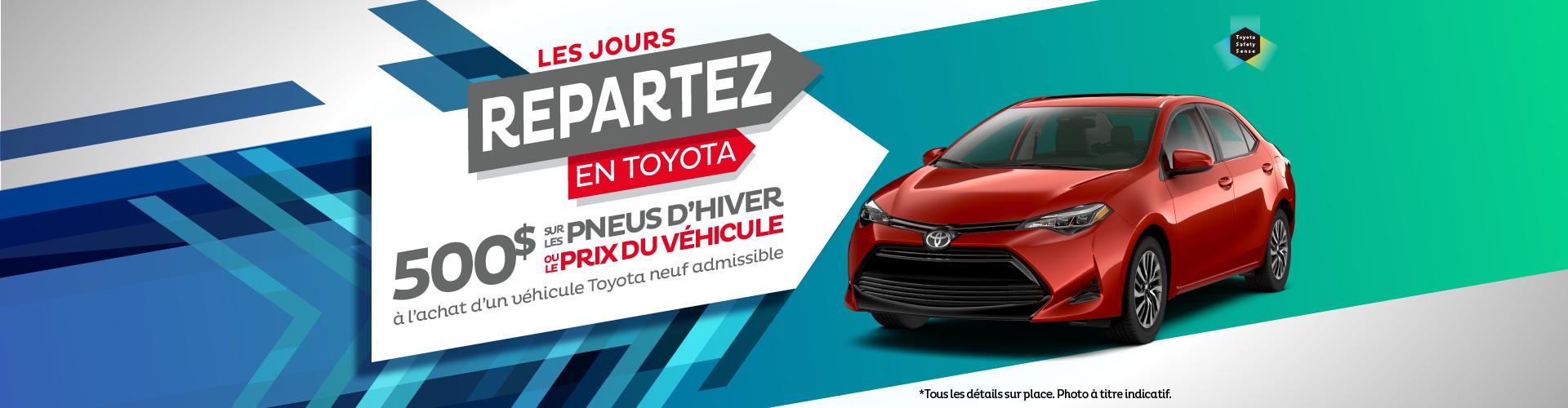 Les jours repartez en Toyota - sept 2019