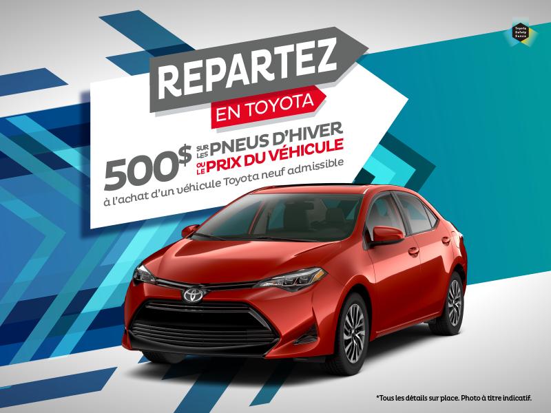 Promo - repartez en Toyota