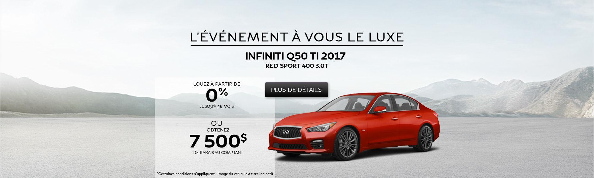 L'événement À vous le luxe - Q50 Red Sport