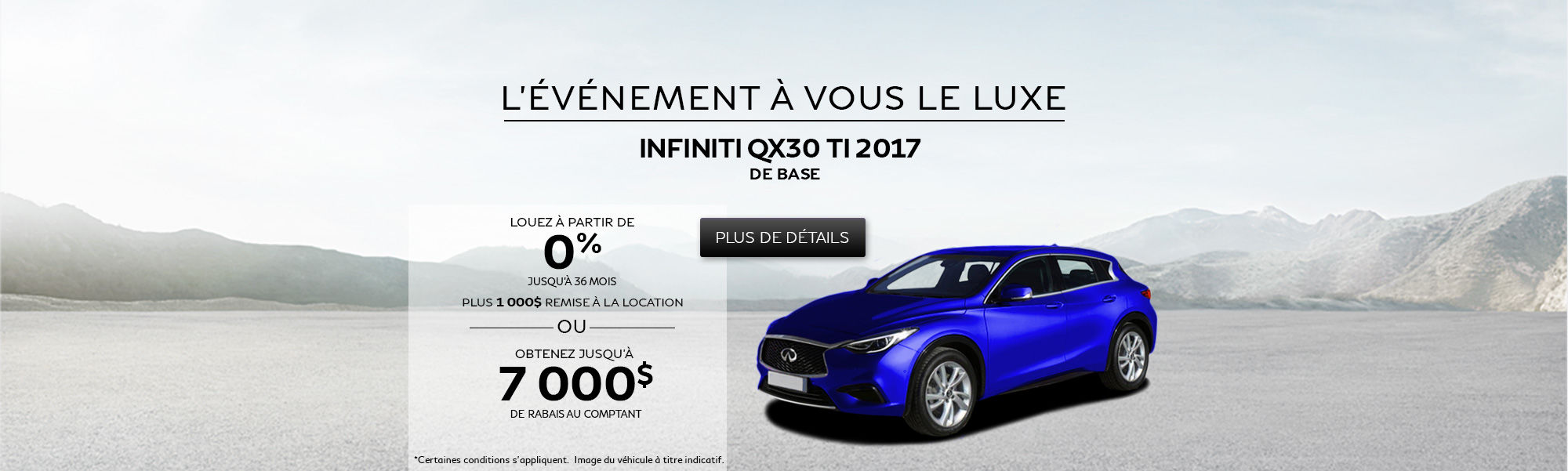 L'événement À vous le luxe - QX30