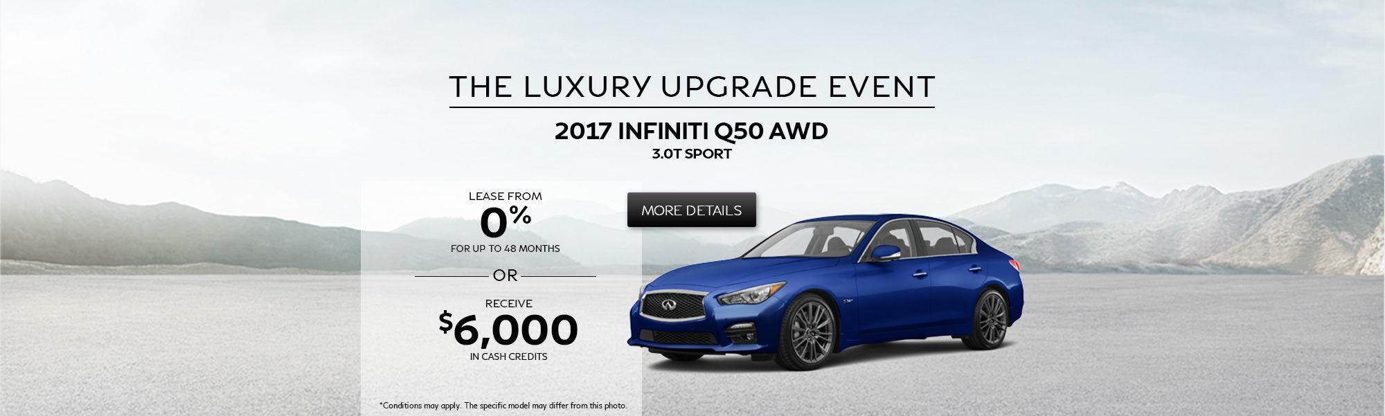 The Luxury Upgrade Event - Q50 AWD