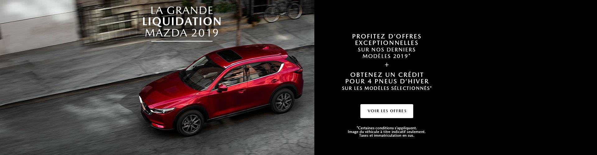 L'événement grande liquidation Mazda