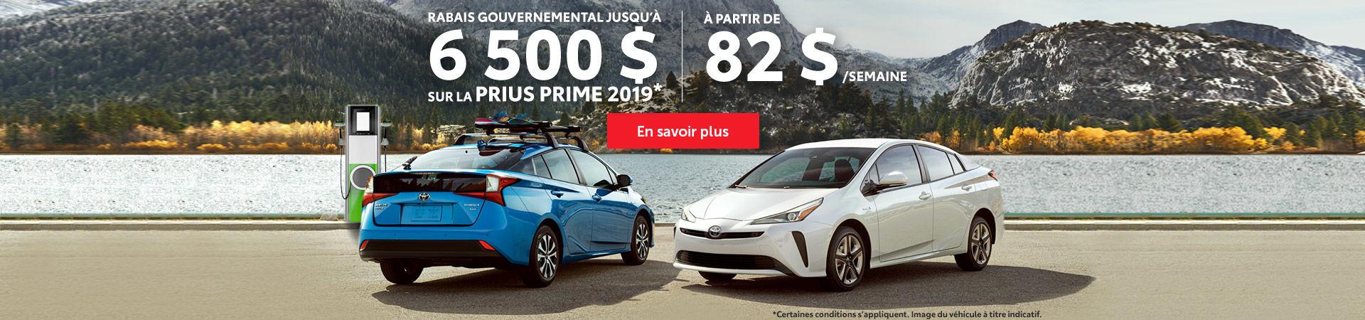 Rabais gouvernemental - Prius Prime 2019